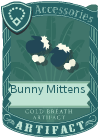 Bunny mittens blue