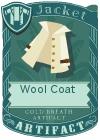 Wool coat collar