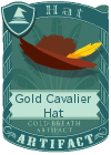 Gold Cavalier Hat Red