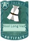 Wool Long Vest 2 White