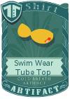 Swim Wear Tube Top Yellow