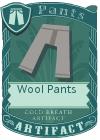 Wool pants gray