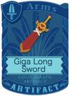 Giga Long Sword Red