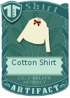 Cotton shirt bow red