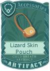 Lizard Skin Pouch Mint