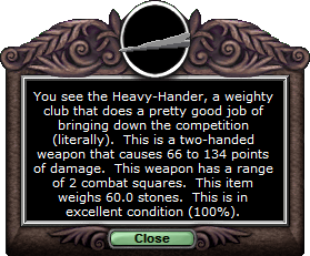 Test club heavyhander