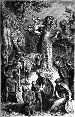 Zerstörung der Irminsul by H. Leutemann