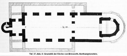 Kirche von Brixworth, Grundriß RdgA Bd1, Taf.037, Abb.006