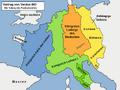 Frankenreich Aufteilung durch Vertrag von Verdun 843.png