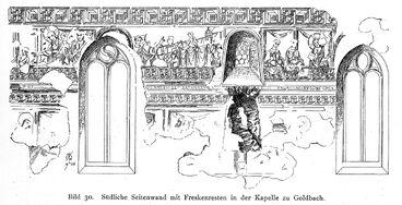 Sylvesterkapelle Goldbach, Bodensee Fresko Südwand 01