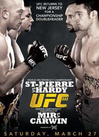 UFC 111 original event poster