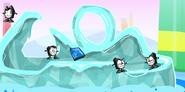 Nixels on ice slide