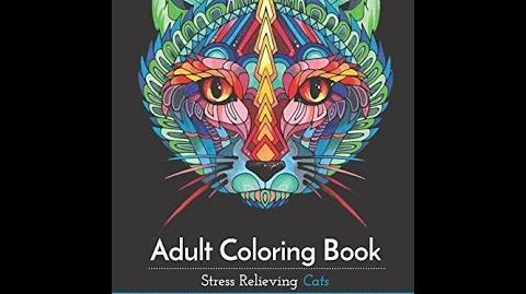 """Download"" Adult Coloring Book Stress Relieving Cats PDF Free"