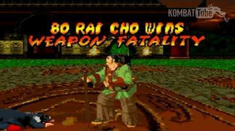 GBA MK TE Bo Rai Cho Weapon Fatality