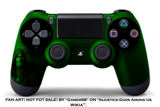File:Green Arrow DualShock 4.png