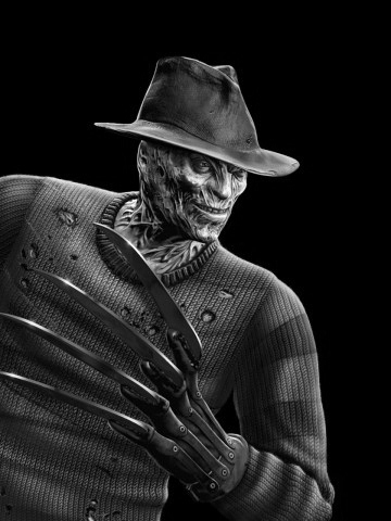 File:FreddyKrueger black and white.jpg