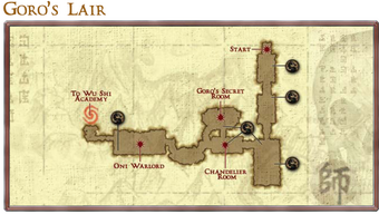Goro's Lair map