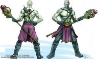 Quan Chi with the Living Weapon