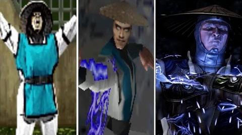 Raiden All Victory Poses - MK1 to MKX