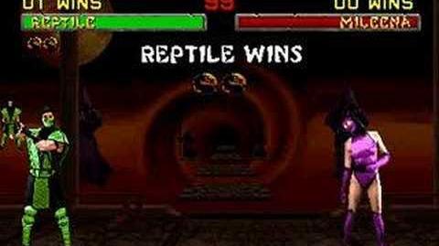 Mortal Kombat II - Friendship- Reptile