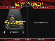 Motor Kombat select screen