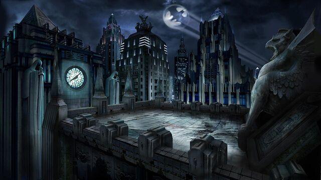 File:MK vs. DC Gotham City roof.jpg
