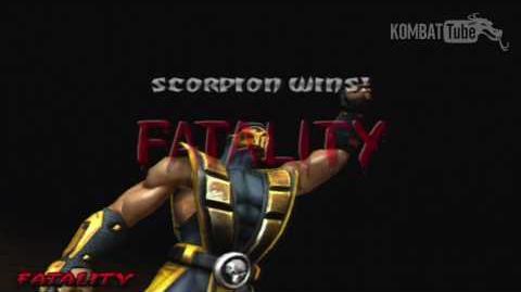 """MK-D Scorpion """"Spear Kombo"""" Fatality"""