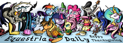 My little pony thanksgiving by southparktaoist-d5lrscd