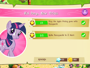 Old Pony, New Tricks tasks