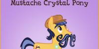 Mustache Crystal Pony