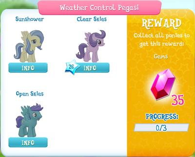 Weather Control Pegasi