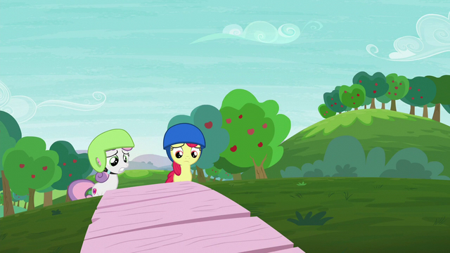 File:Apple Bloom and Sweetie Belle watches Scootaloo's scooter performance S6E4.png