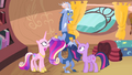 Discord pulling Twilight's and Cadance's manes S4E11.png