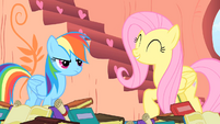 Fluttershy liked the cloud-spinning part S1E16