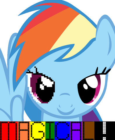 """File:FANMADE Rainbow Dash's """"Magical!"""".png"""