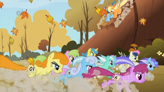File:The racers pass Applejack and Rainbow Dash for the last time S1E13.png