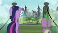 Twilight and Spike at the old castle S4E03.png