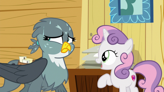 File:Gabby sweating as Sweetie Belle speaks S6E19.png
