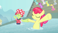 Granny and Apple Bloom hold hooves S4E20.png