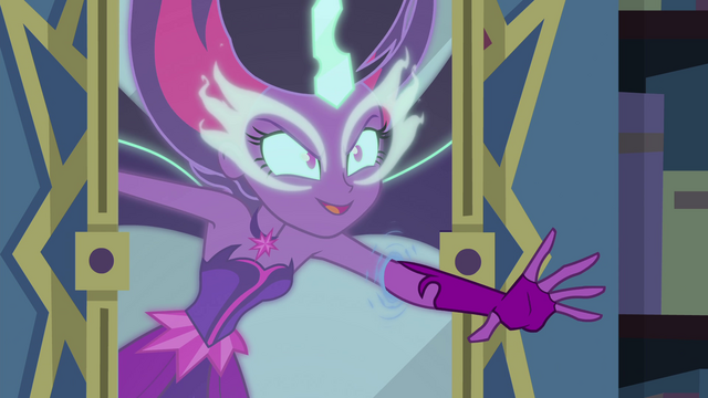 File:Midnight Sparkle reaches through the mirror EG4.png