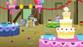 Pinkie Pie's family looking at the party decorations S1E23.png