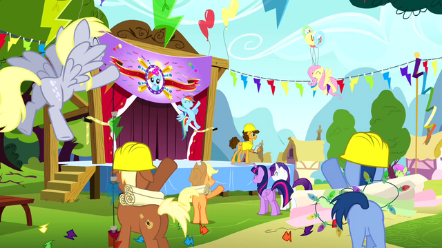 File:Ponies cheering S4E12.png
