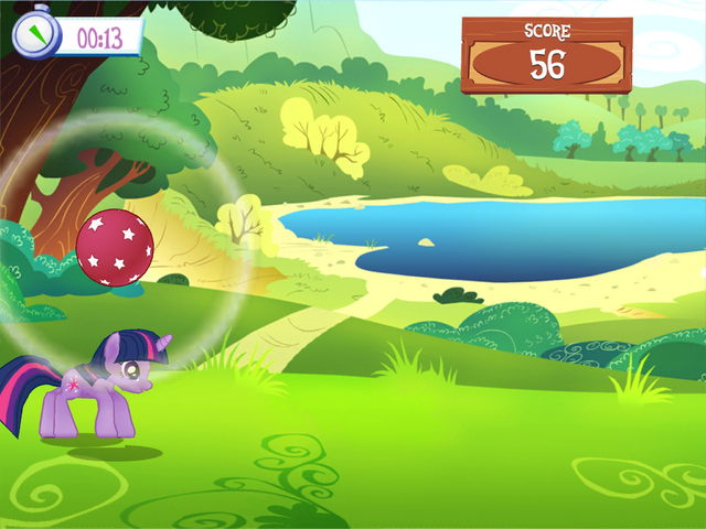 File:Playing Ball Bounce minigame MLP Game.png