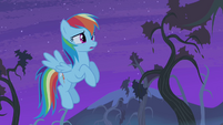 Rainbow Dash scared S4E07