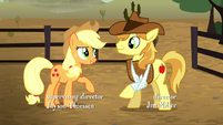Applejack talking with Braeburn S5E6
