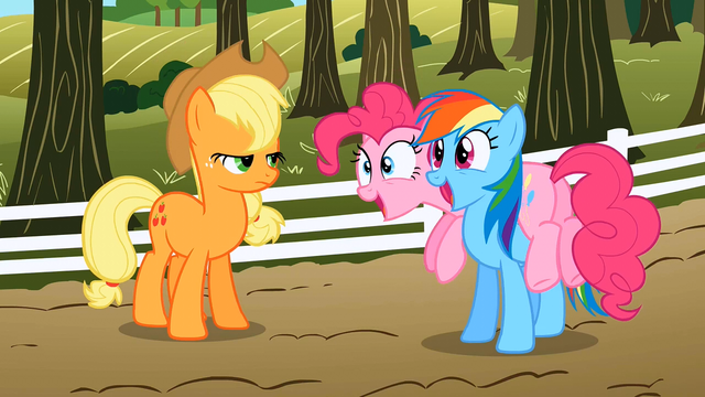 File:Pinkie Pie and Rainbow Dash excited S02E15.png