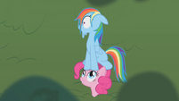 Pinkie Pie Rainbow Dash cartoon chase S01E05