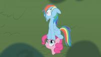 Pinkie Pie Rainbow Dash cartoon chase S01E05