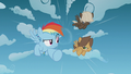 Rainbow Dash and bullies race through the sky S5E25.png