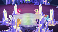 The Mane 6 meet in the castle S5E11